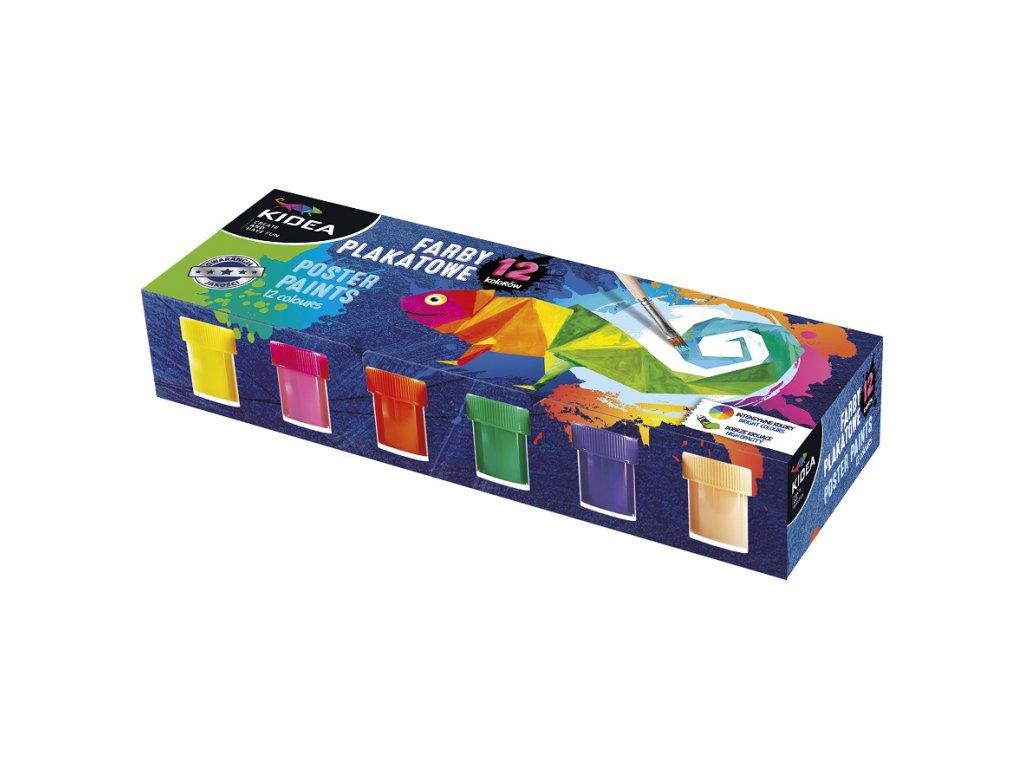 Temperové farby 12ks (D)