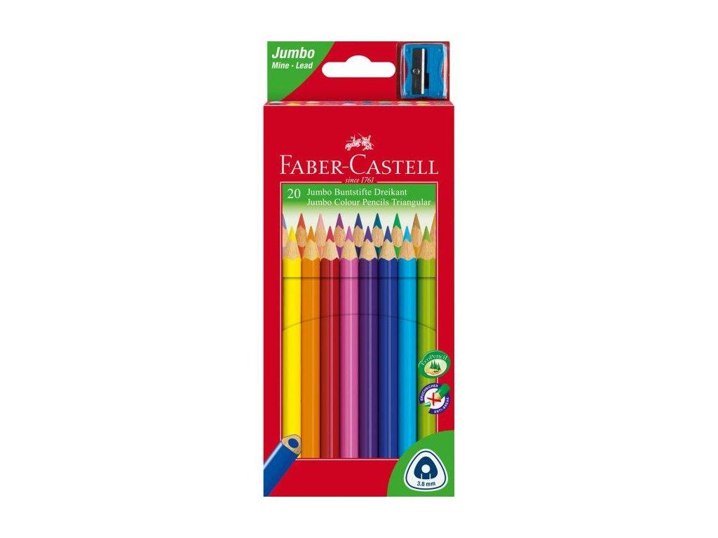 Faber-Castell Pastelky Junior grip set 20 farebné
