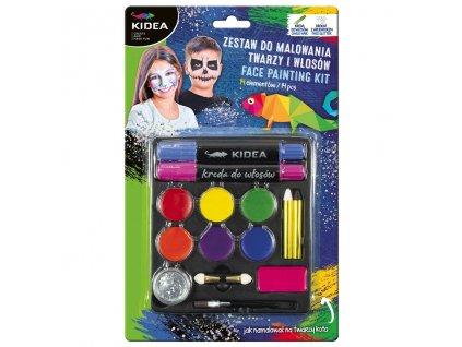 Farby na tvár a vlasy s doplnkami 14ks (D)