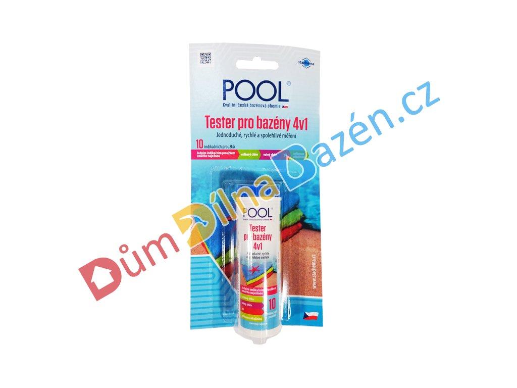 Testovací proužky na pH a obsah chlóru v bazénu