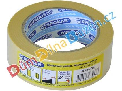 Papírová lepící páska maskovací 50m