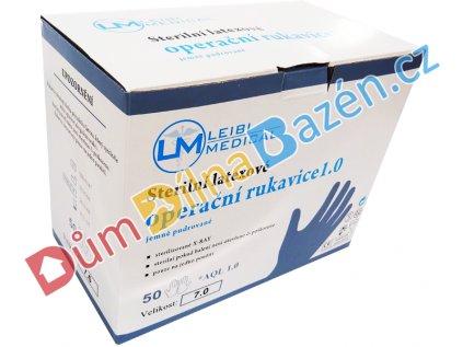 Latexové rukavice jednorázové (50 párů)