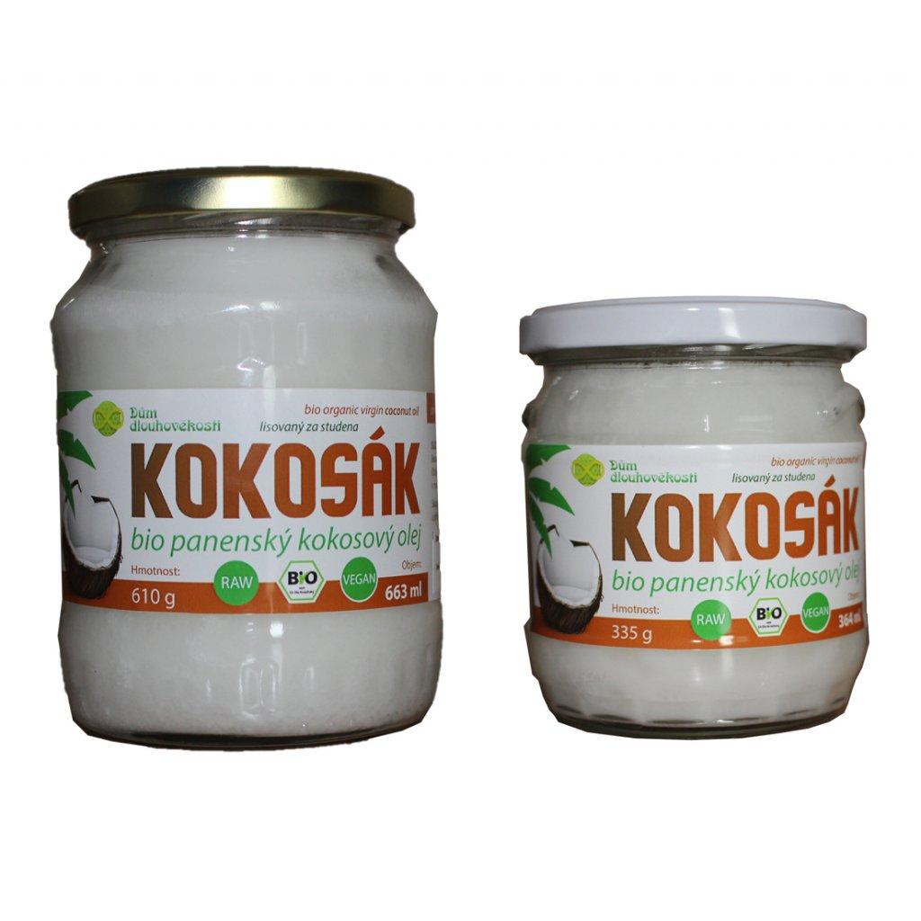 Kokosový olej v BIO kvalitě, za studena lisovaný - VÝHODNÉ BALENÍ