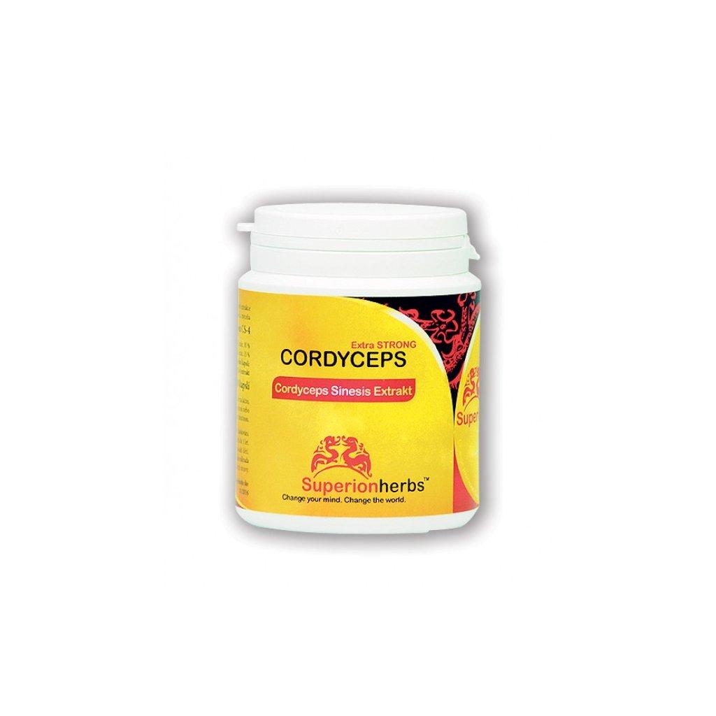 Superionherbs: CORDYCEPS Extra STRONG, 90 kapslí
