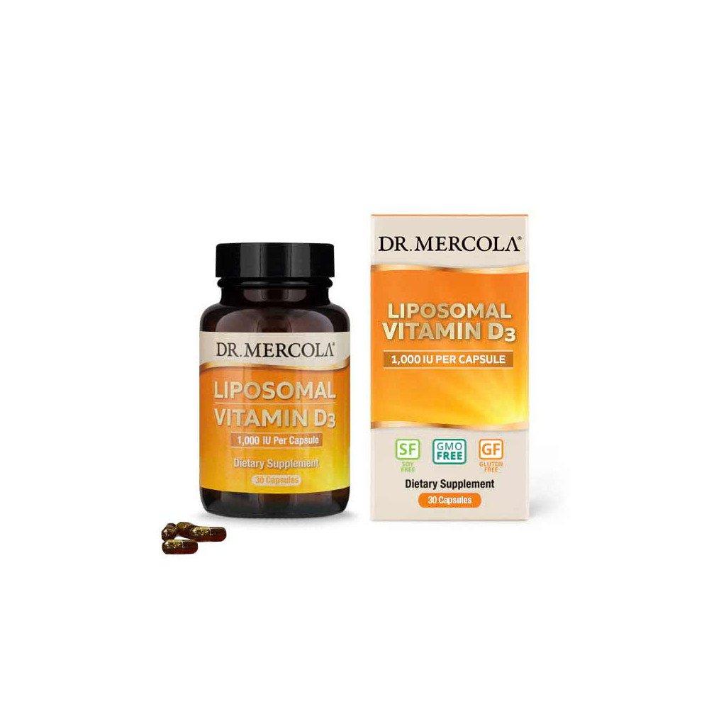 Dr. Mercola - Vitamín D 1000 IU, liposomální, 30 kapslí