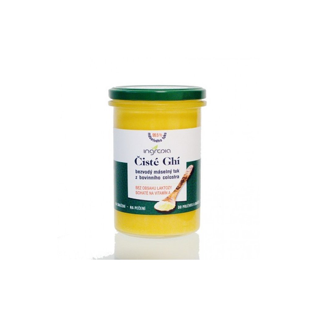 Čisté ghí - přepuštěné máslo z bovinního colostra