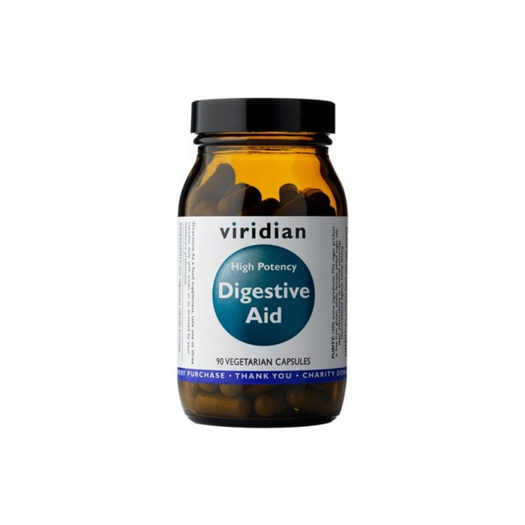 Viridian - High Potency Digestive Aid, 90 kapslí