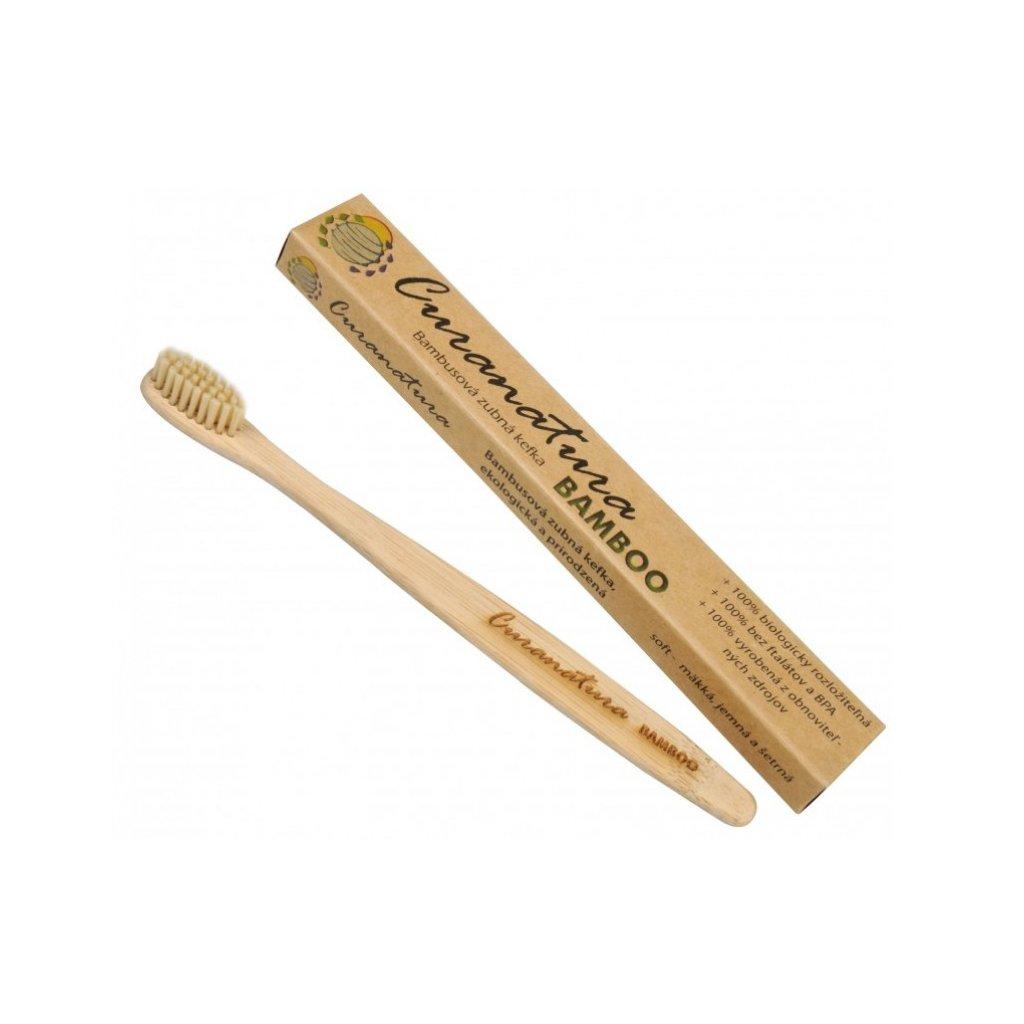 Zubní kartáček Curanatura Bamboo - 100% přírodní - extra jemný