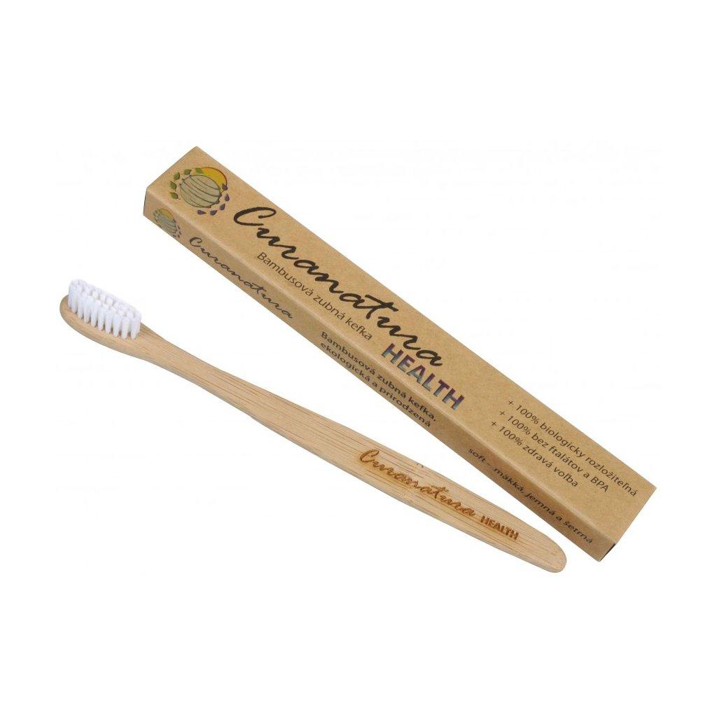 Zubní kartáček Curanatura Health - 100% přírodní - jemný