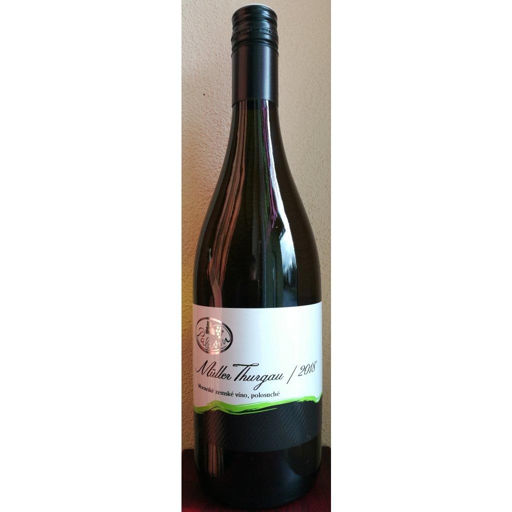Muller Thurgau 2019 moravské zemské víno, polosladké