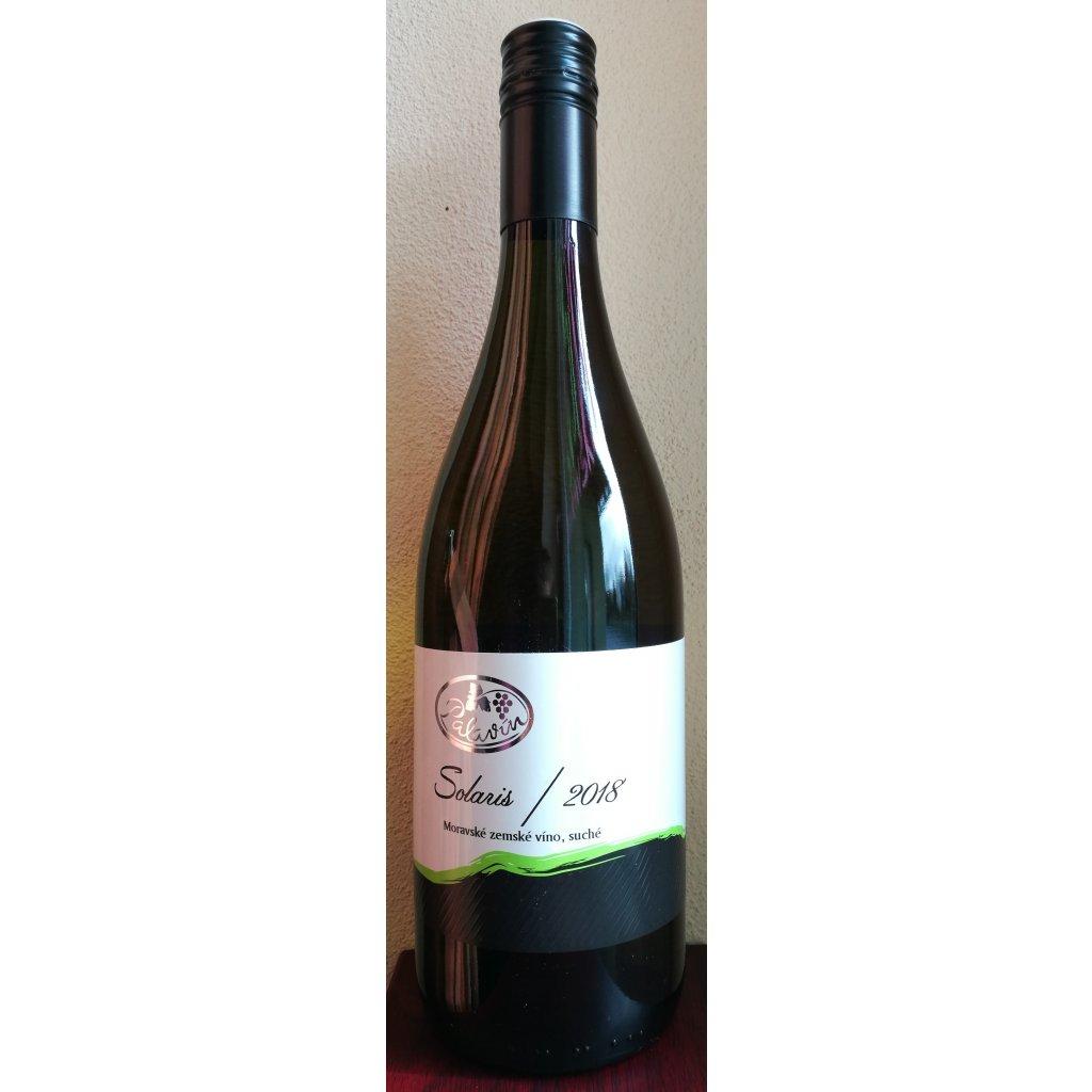 Solaris 2018 moravské zemské víno, polosuché