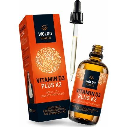 Vitaminy D3 + K2 (kapky) 50 ml / 1800 kapek
