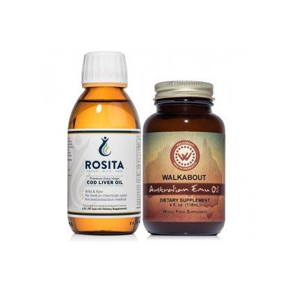ROSITA - Játrový tresčí olej (150 ml) + Australský Emu olej (118 ml)