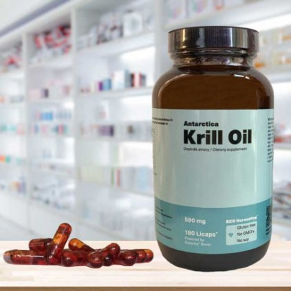 antarctica kril olej 590 mg 180 kapsli