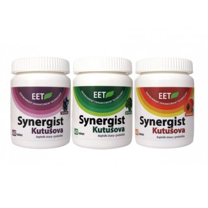 Probiotika Synergist Kutušova, 3 x 60 tablet, borůvka+brokolice+meruňka