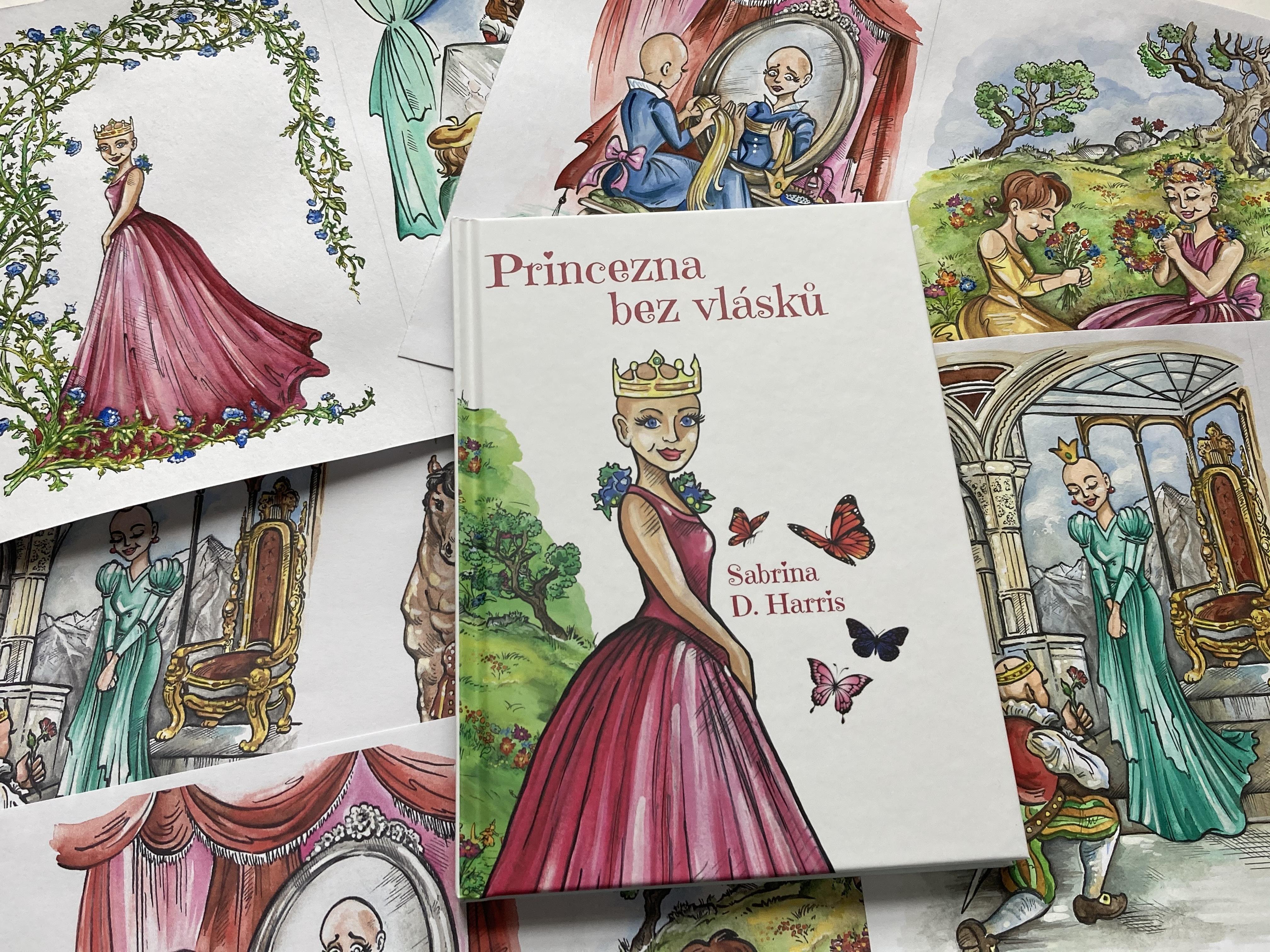 Paruka za knihu: Princezna bez vlásků pomáhá v čele s Aničkou Slováčkovou