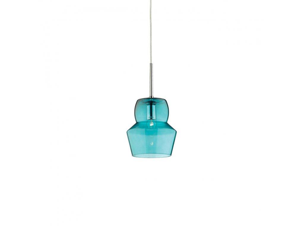 IDEAL LUX 036120 závěsné svítidlo Zeno SP1 Small Azzurro 1x40W E14