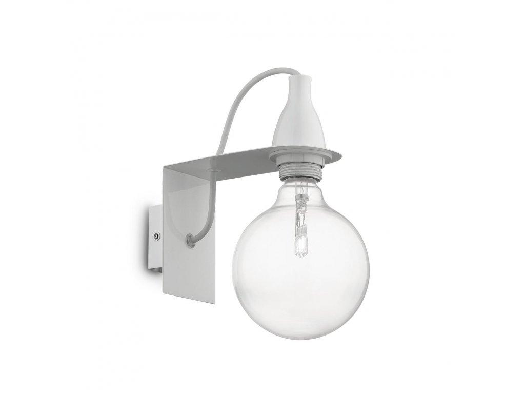 IDEAL LUX 045191 nástěnné svítidlo Minimal AP1 Bianco 1x70W E27