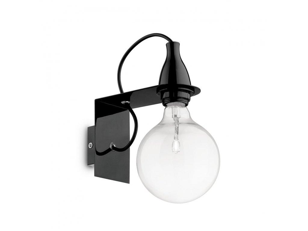 IDEAL LUX 045214 nástěnné svítidlo Minimal AP1 Nero 1x70W E27