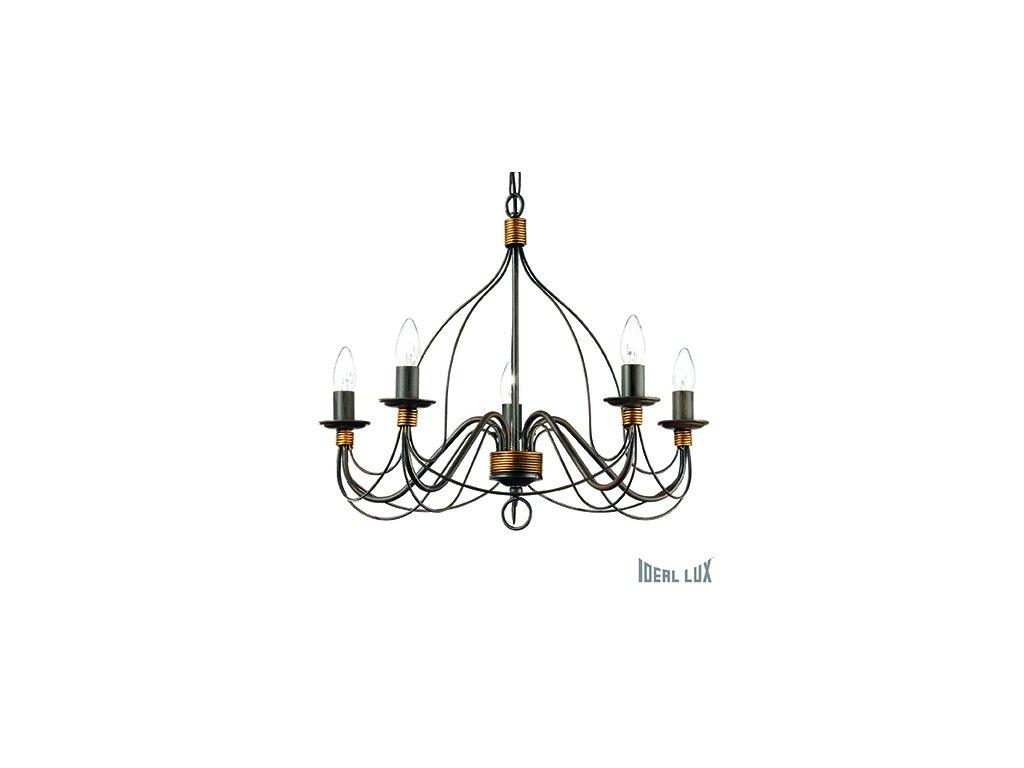 IDEAL LUX 057187 lustr Corte SP5 Ruggine 5x40W E14