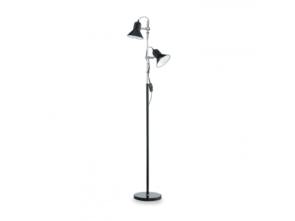 IDEAL LUX 061139 stojací lampa Polly PT2 Nero 2x60W E27