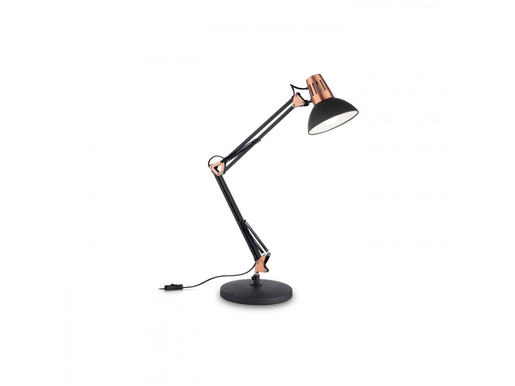 IDEAL LUX 061191 stolní lampa Wally TL1 Nero 1x40W E27