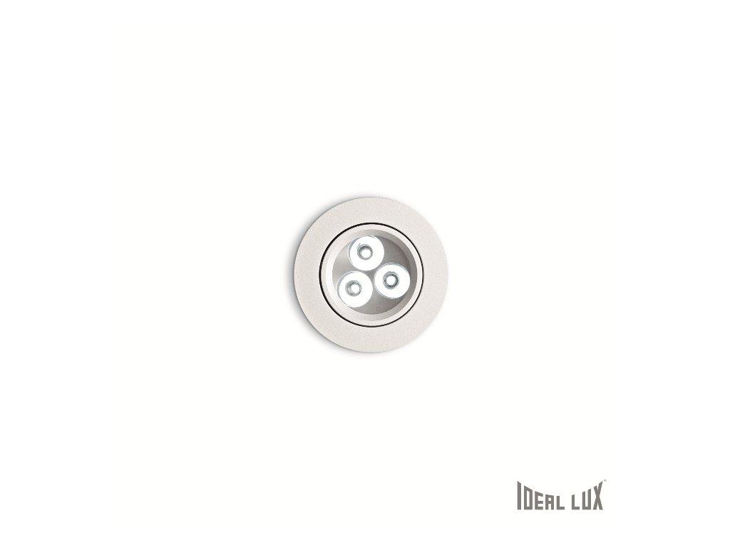 IDEAL LUX 062396 vestavné LED svítidlo Delta FI3 Bianco 3x1W 3000K