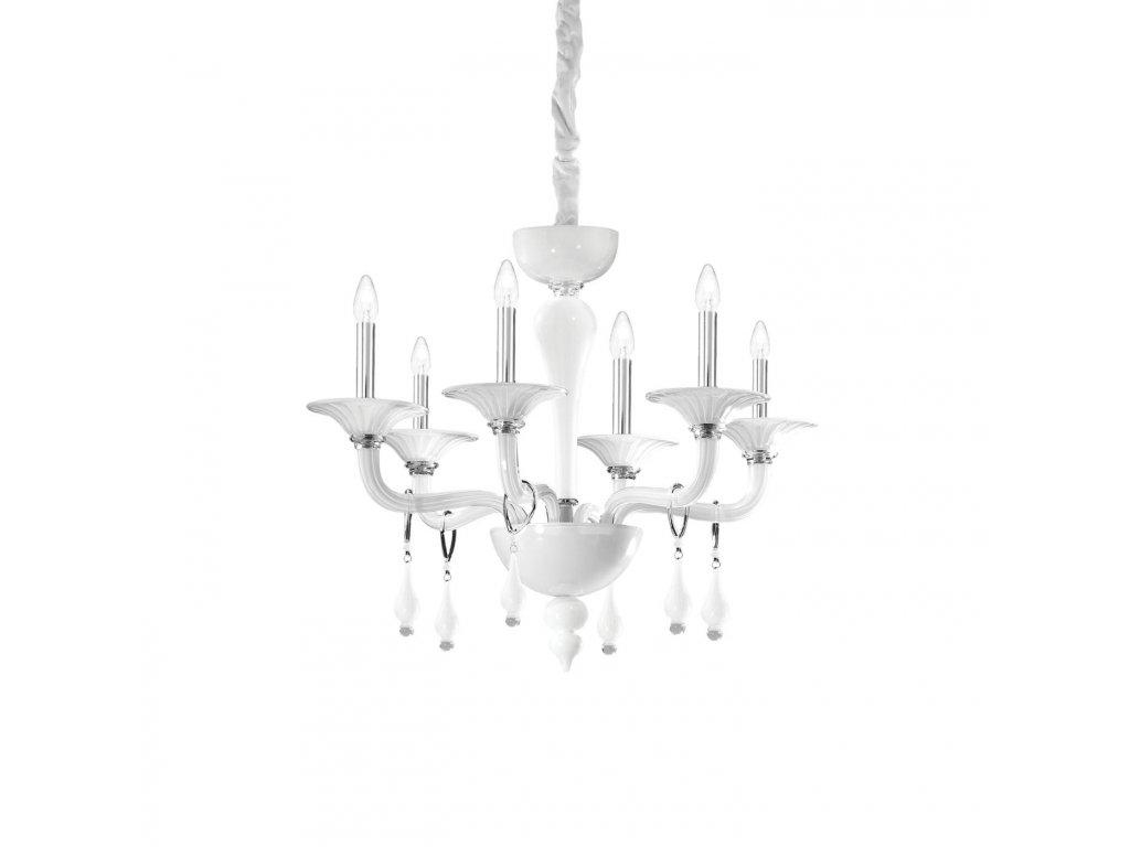 IDEAL LUX 068183 lustr Miramare SP6 Bianco 6x40W E14