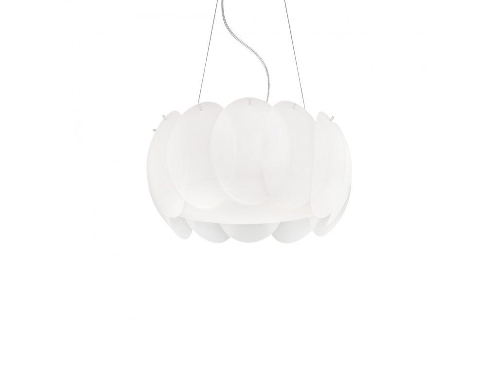 IDEAL LUX 074139 závěsné svítidlo Ovalino SP5 Bianco 5x60W E27