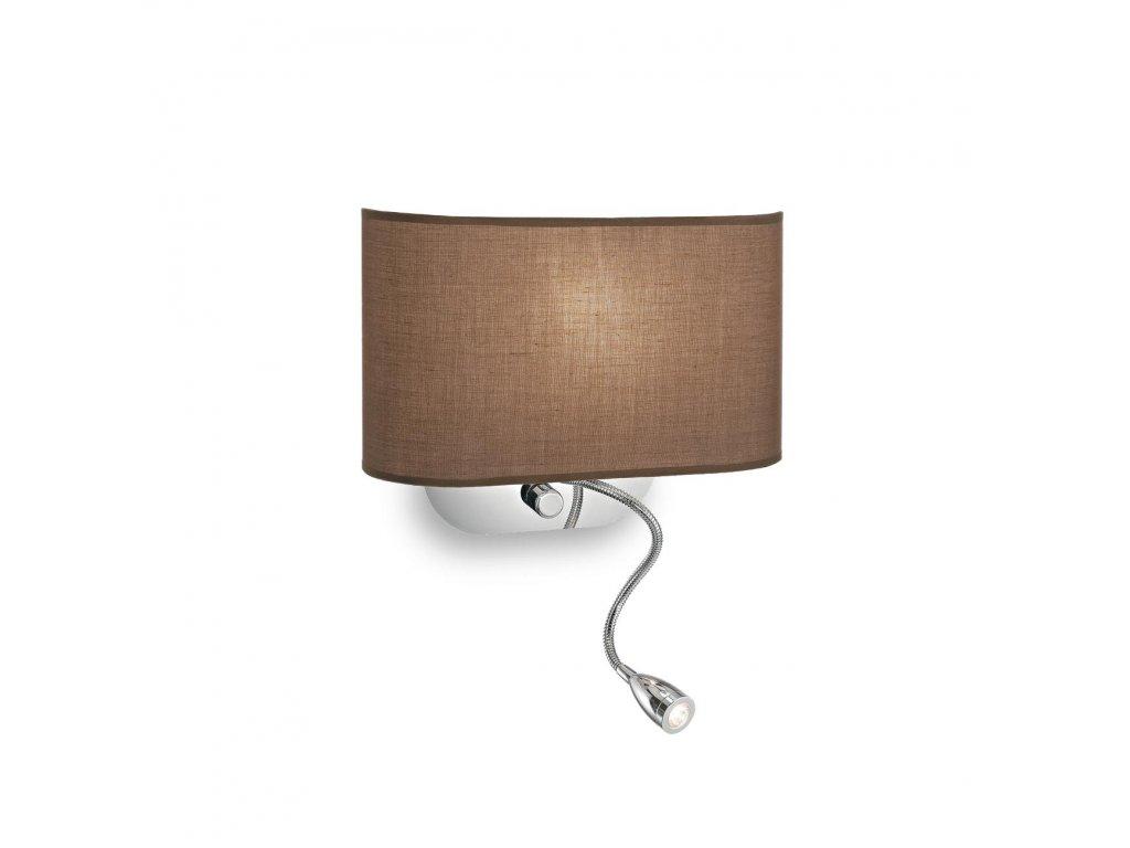 IDEAL LUX 074917 nástěnné LED svítidlo Sheraton AP2 Marrone 1x40W/1W E14/