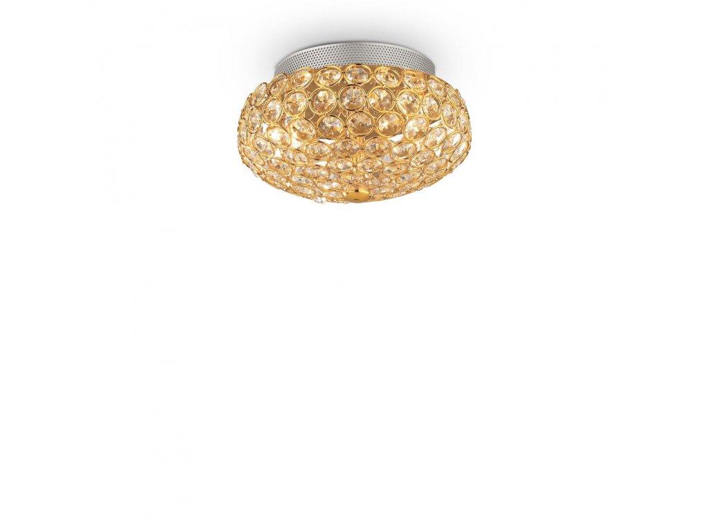 IDEAL LUX 075402 svítidlo King PL3 Oro 3x40W G9
