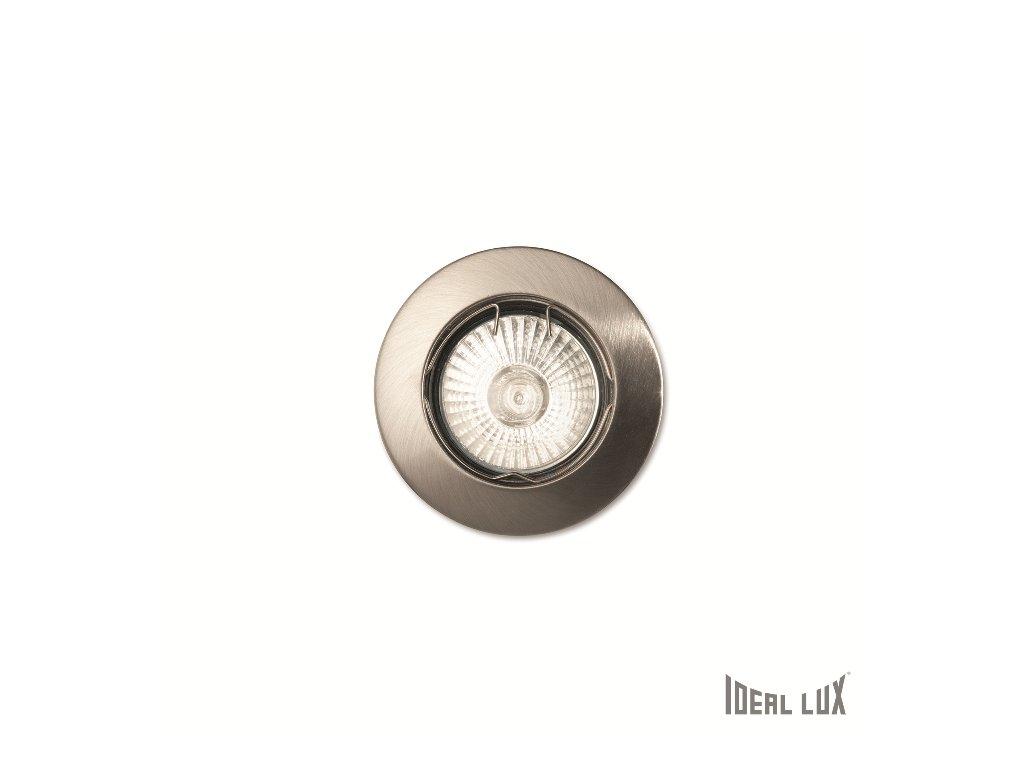 IDEAL LUX 083087 vestavné svítidlo Jazz FI1 Nickel 1x50W GU10