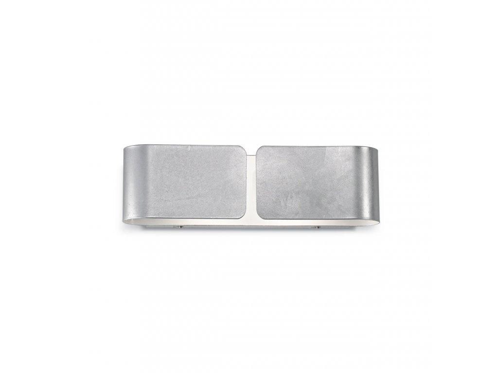IDEAL LUX 088273 nástěnné svítidlo Clip AP2 Small Argento 2x60W E27