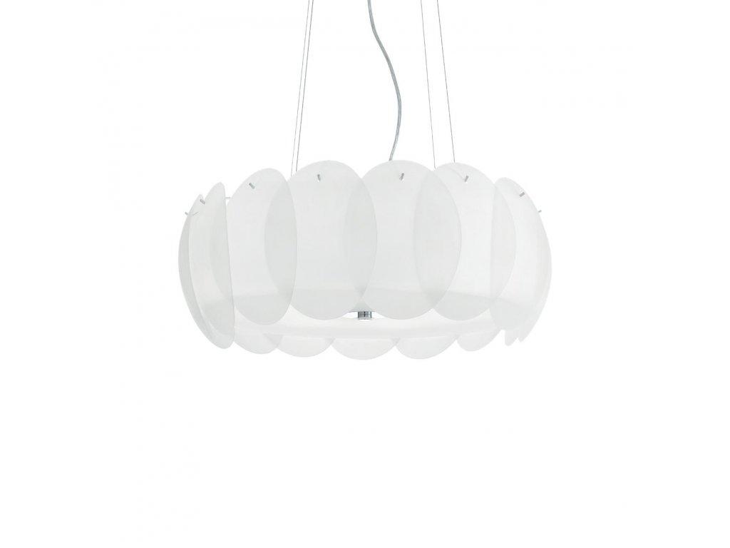 IDEAL LUX 090481 závěsné svítidlo Ovalino SP8 Bianco 8x60W E27