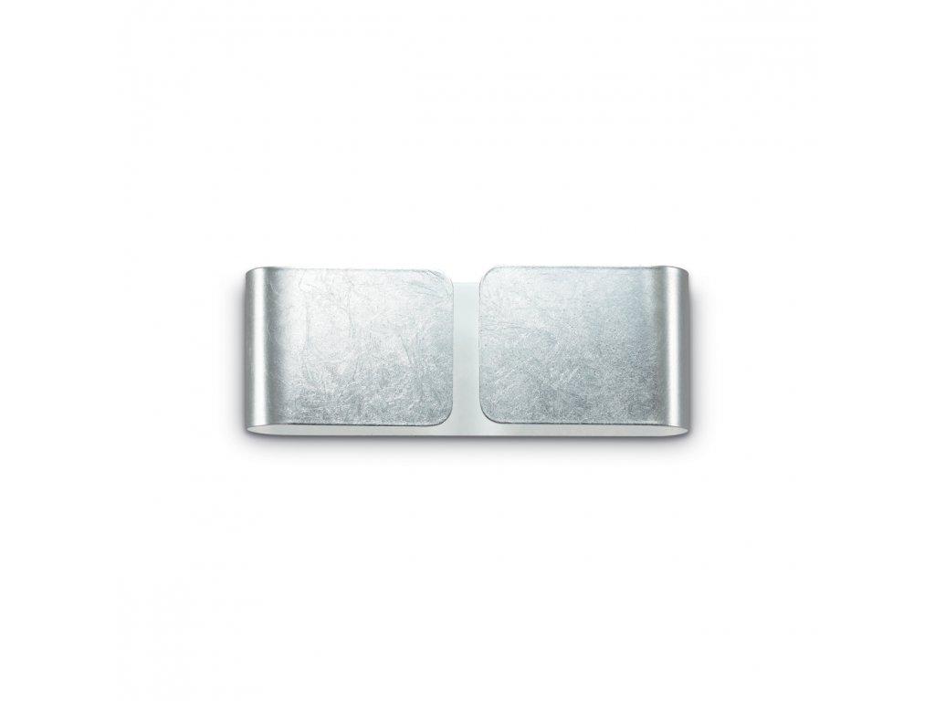 IDEAL LUX 091136 nástěnné svítidlo Clip AP2 Mini Argento 2x40W G9