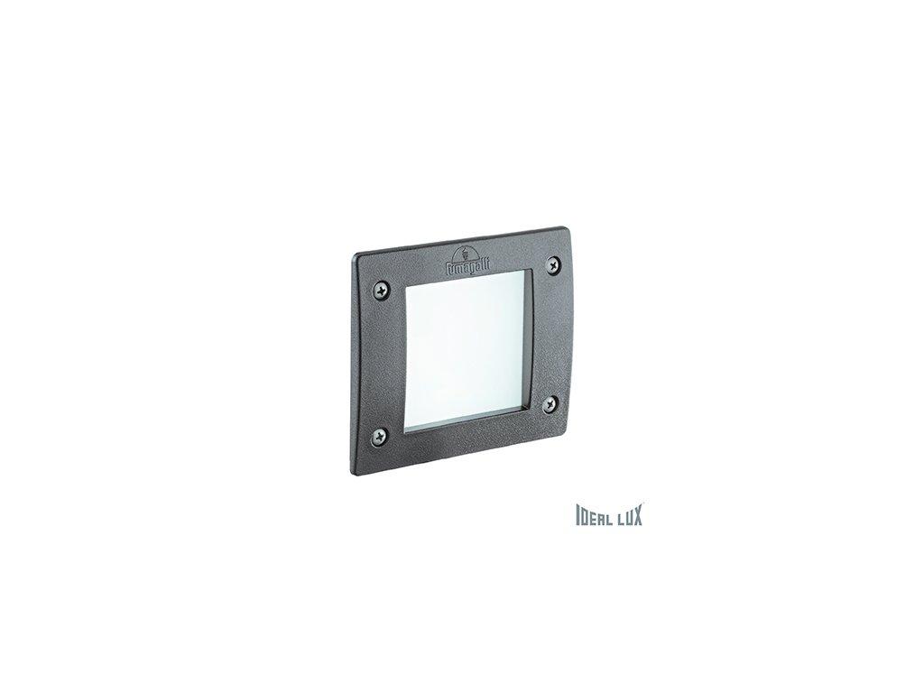 IDEAL LUX 096599 venkovní zápustné svítidlo Leti Square FI1 Grigio 1x3W GX53 IP66 3000K