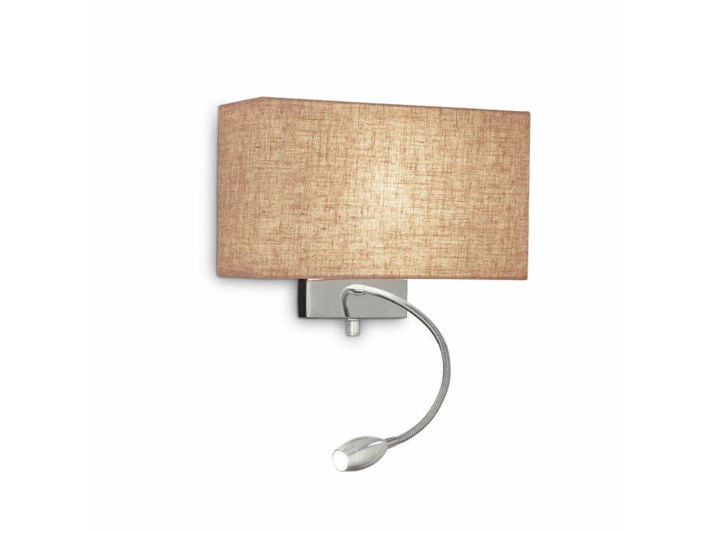 IDEAL LUX 103204 nástěnné LED svítidlo Hotel Kornplatz AP2 Canvas 1x60W/1W E27/