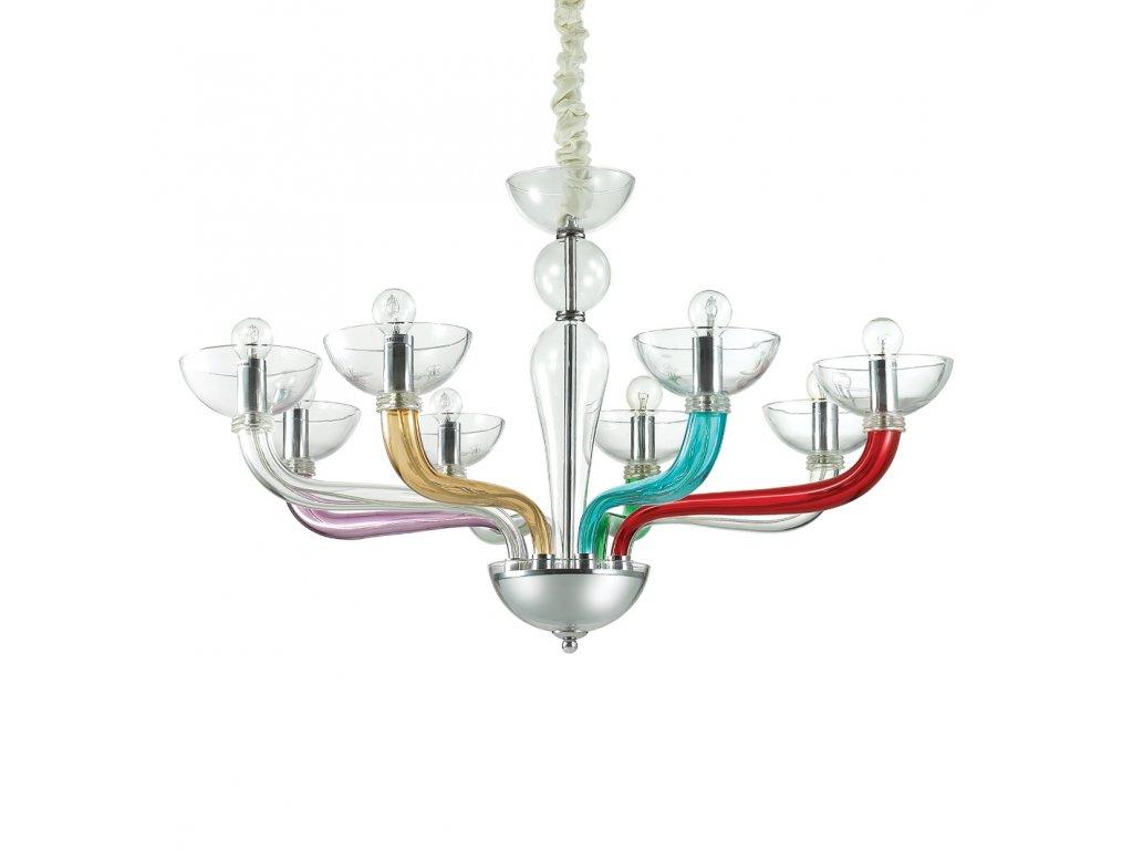 IDEAL LUX 104775 lustr Casanova SP8 Color 8x40W E14