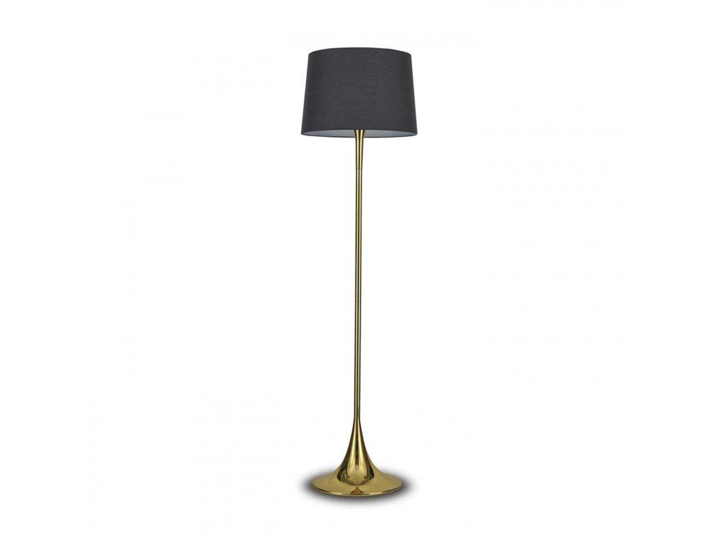 IDEAL LUX 110257 stojací lampa London PT1 Ottone 1x100W E27