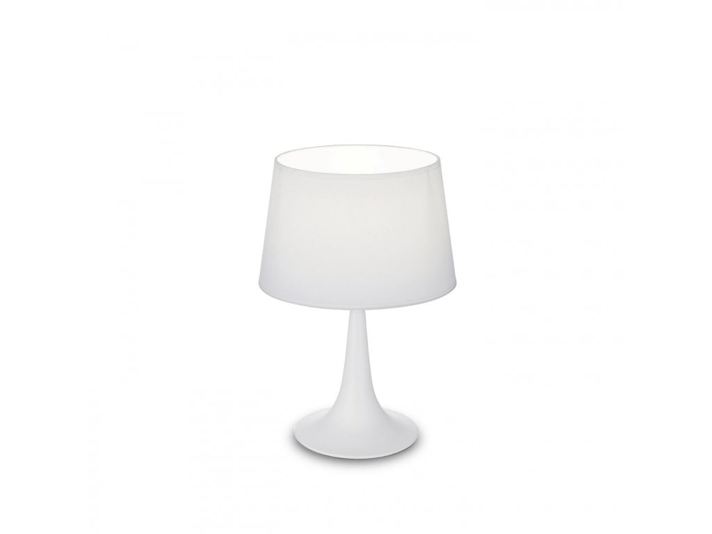 IDEAL LUX 110530 stolní lampa London TL1 Small Bianco 1x60W E27