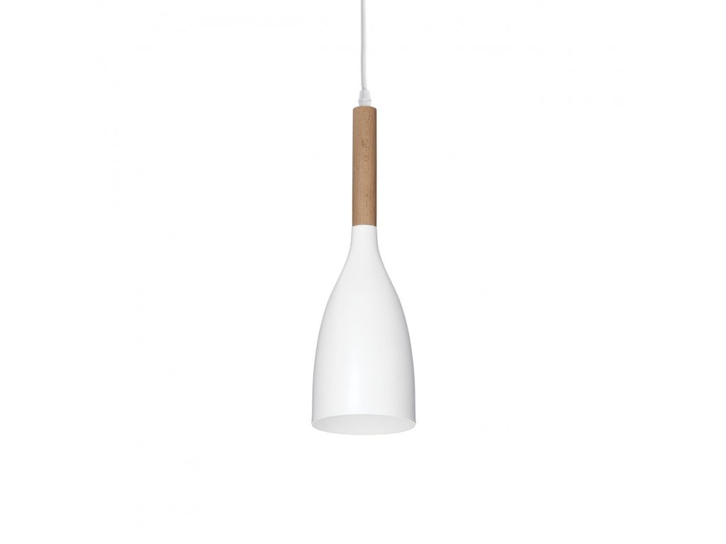 IDEAL LUX 110745 závěsné svítidlo Manhattan SP1 Bianco 1x40W E14