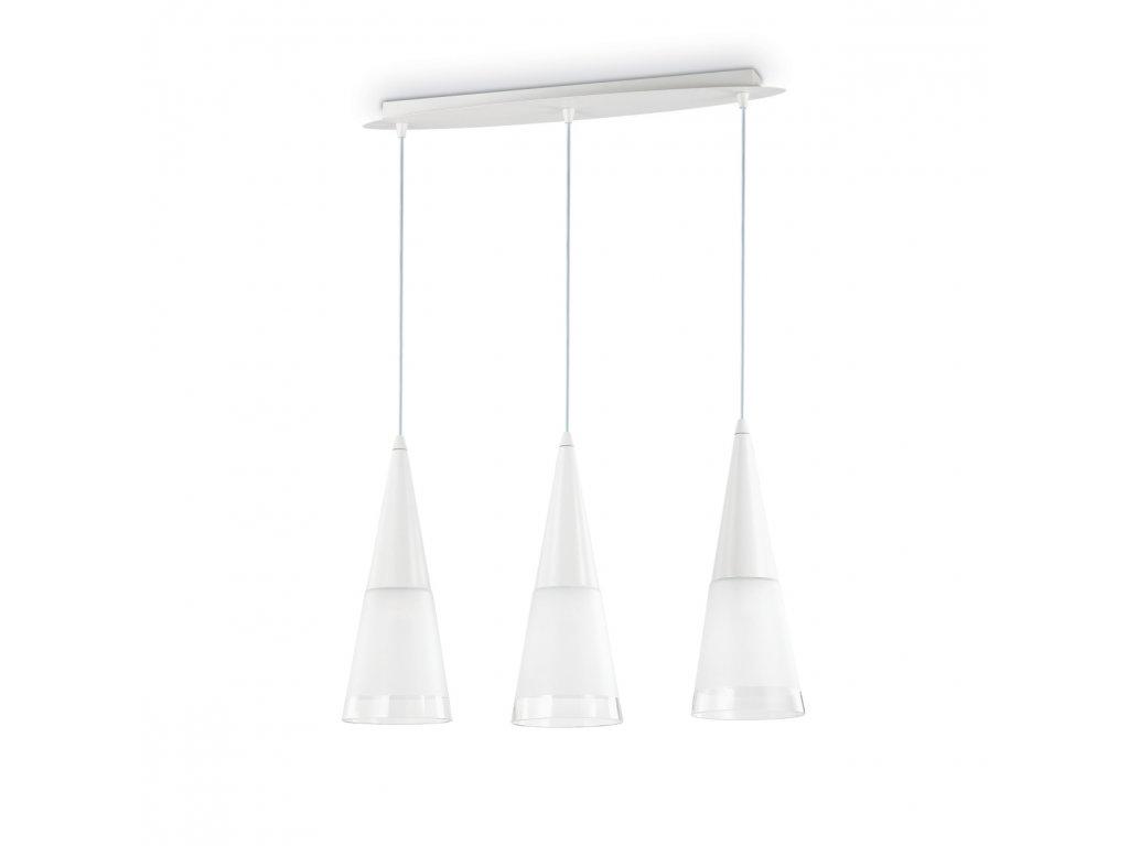IDEAL LUX 112381 závěsné svítidlo Cono SB3 Bianco 3x40W E14