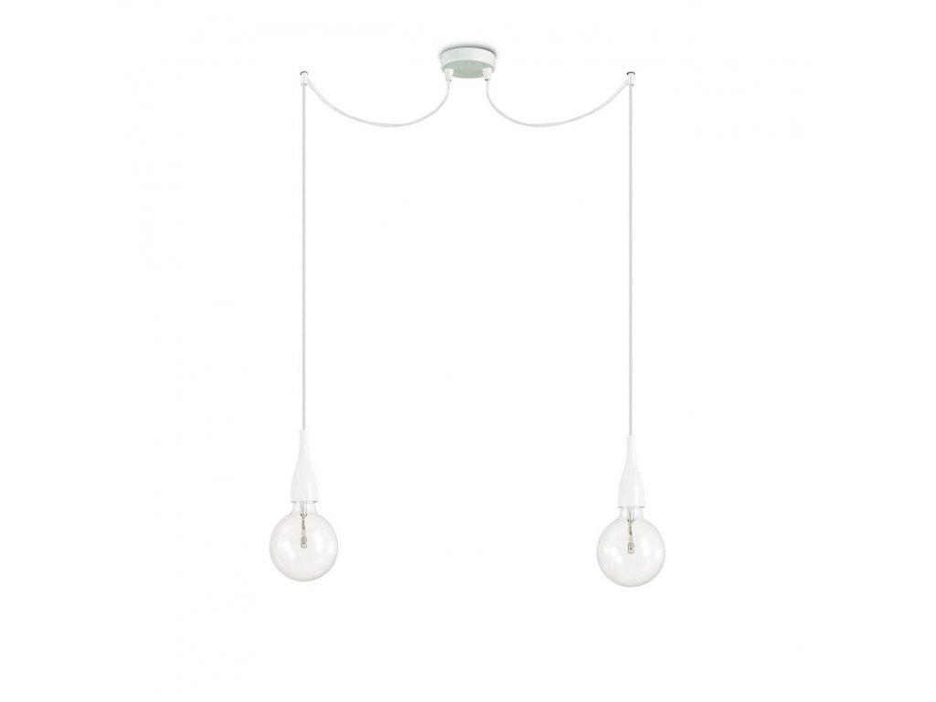 IDEAL LUX 112718 závěsné svítidlo Minimal SP2 Bianco 2x60W E27