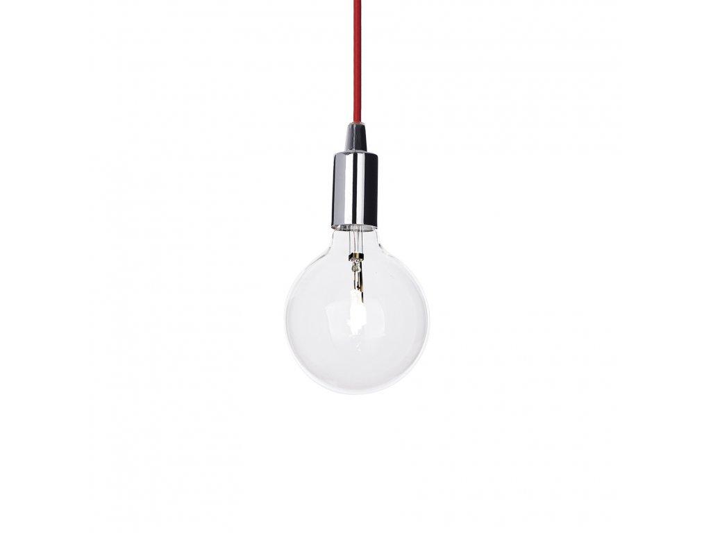 IDEAL LUX 113296 závěsné svítidlo Edison SP1 Cromo 1x60W E27