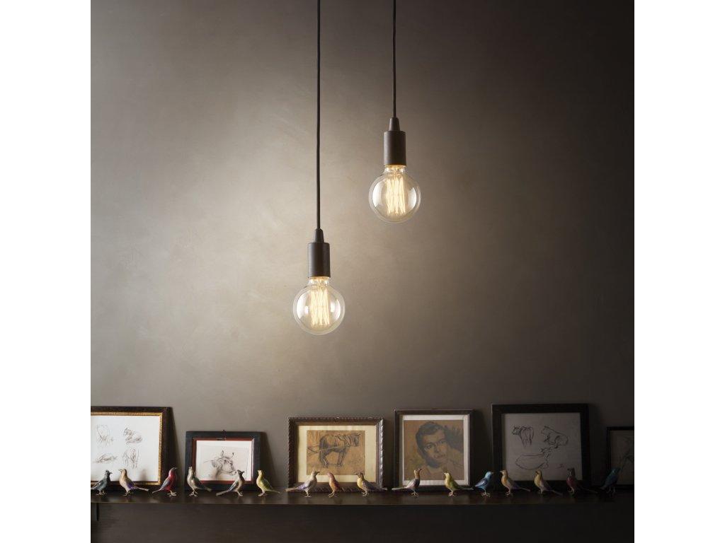 IDEAL LUX 113319 závěsné svítidlo Edison SP1 Nero 1x60W E27