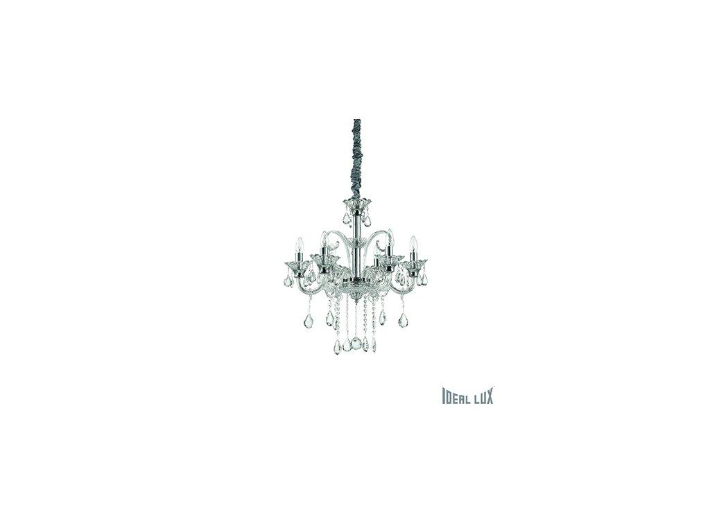 IDEAL LUX 114194 lustr Colossal SP6 Trasparente 6x40W E14
