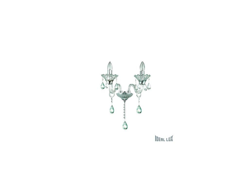 IDEAL LUX 114200 nástěnné svítidlo Colossal AP2 Trasparente 2x40W E14