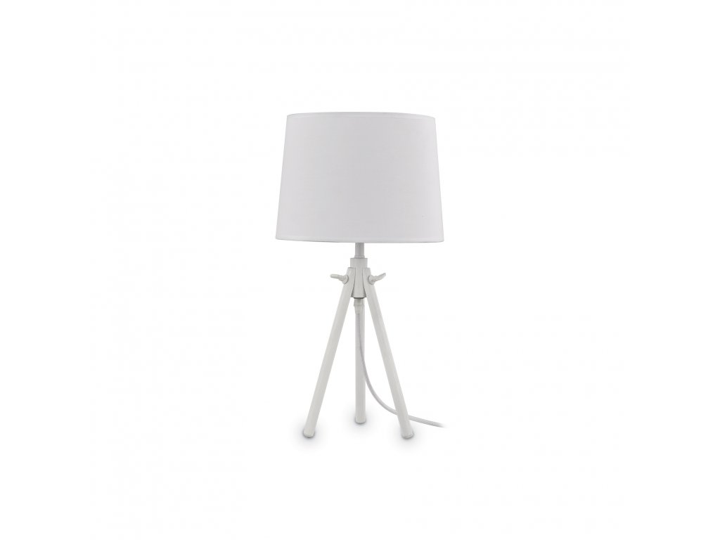 IDEAL LUX 121376 stolní lampa York TL1 Small Bianco 1x60W E27
