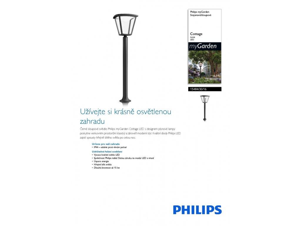 PHILIPS 15484/30/16 LED svítidlo sloupkové Cottage 1x4,5W IP44 2700K