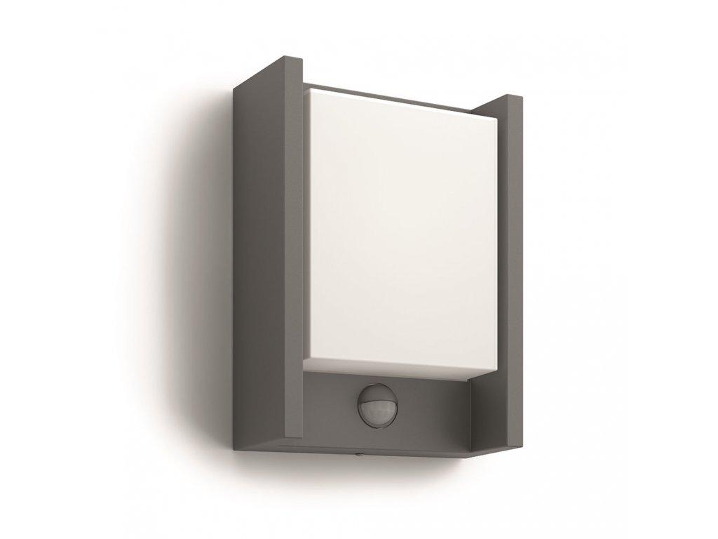 PHILIPS 16461/93/16 venkovní LED svítidlo Arbour s čidlem 1x6W IP44 2700K